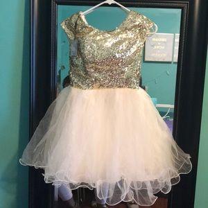 Dresses & Skirts - Gold sequin dress